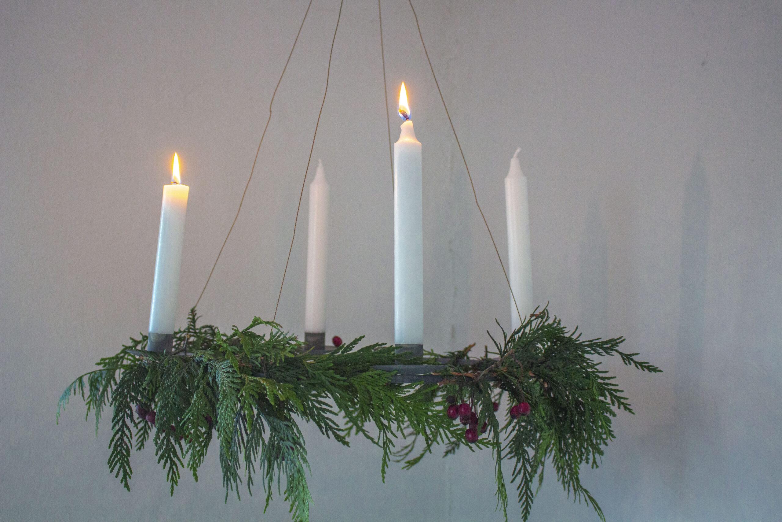 Julekranse-med-lys
